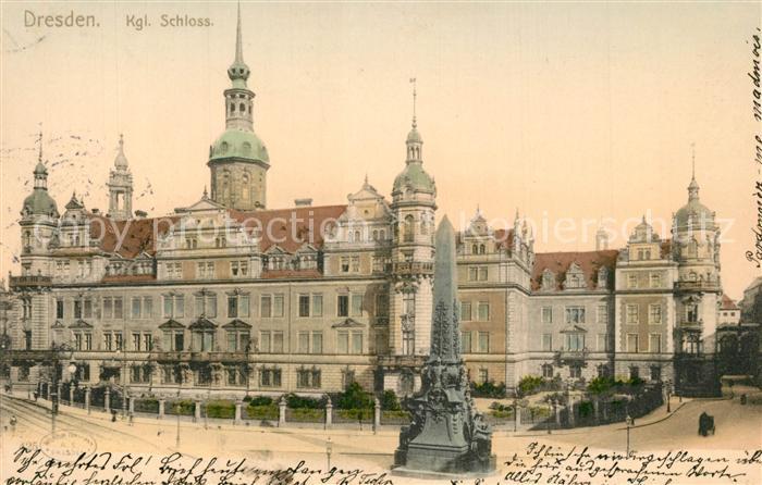 AK / Ansichtskarte Dresden Koenigliches Schloss Dresden