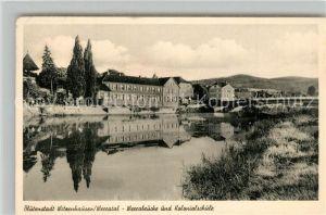 AK / Ansichtskarte Witzenhausen Werrabruecke Kolonialschule Witzenhausen
