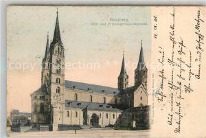 AK / Ansichtskarte Bamberg Dom Prinzregenten Denkmal Bamberg