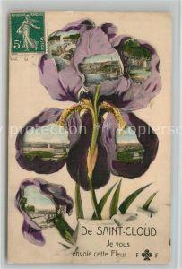 AK / Ansichtskarte Saint Cloud_Coteaux Je vous envoie cette Fleur Saint Cloud Coteaux