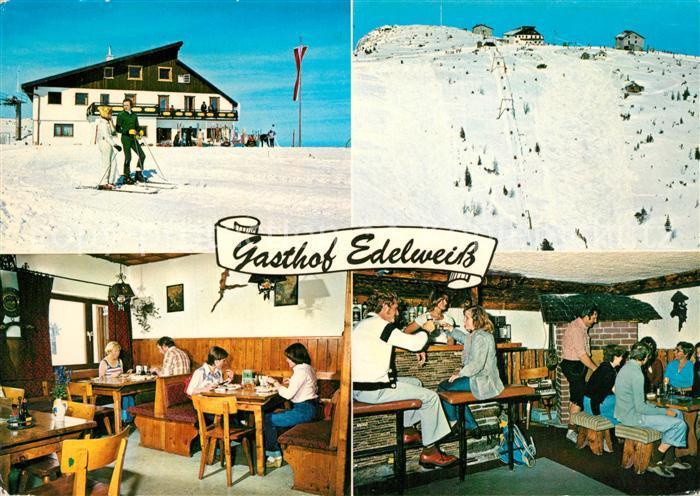 AK / Ansichtskarte Ebensee_Oberoesterreich Gasthof Edelweiss Winter Ebensee_Oberoesterreich