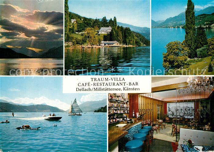 AK / Ansichtskarte Dellach_Millstaettersee Traumvilla Cafe Restaurant Bar Dellach_Millstaettersee