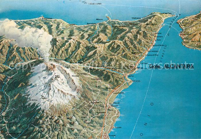 AK / Ansichtskarte Etna Panoramakarte Etna