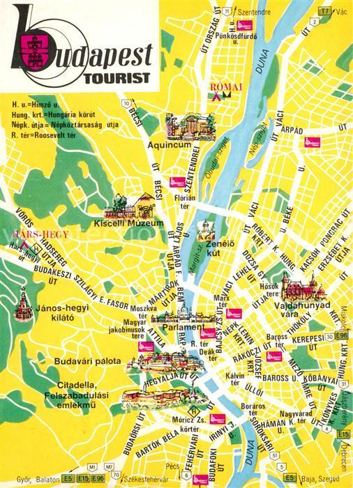 AK / Ansichtskarte Budapest Stadtplan Budapest