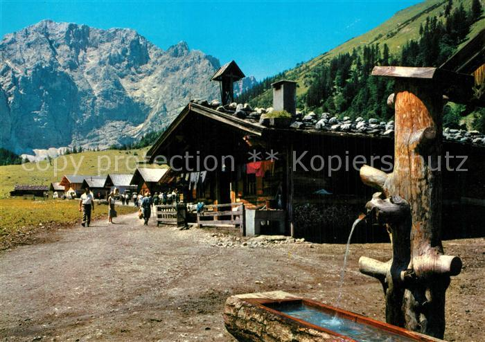AK / Ansichtskarte Engalm Karwendelgebirge Ahornboden  Engalm