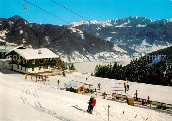 AK / Ansichtskarte Zell_See Blaikners Sonn Alm Winter Zell_See