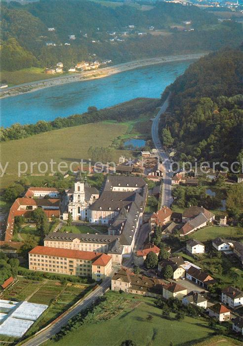 AK / Ansichtskarte Wilhering Fliegeraufnahme Zisterzienserabtei Rokokokirche Wilhering