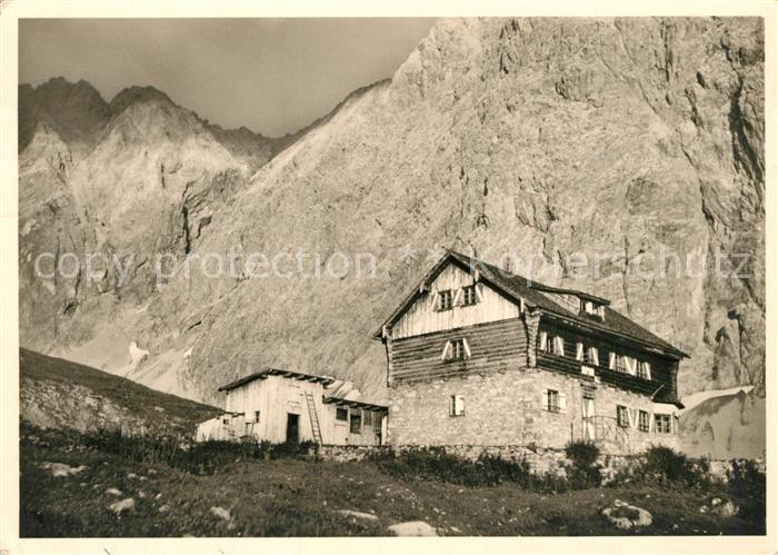 AK / Ansichtskarte Anhalter_Huette Lechtaler Alpen Heiterwand Anhalter Huette