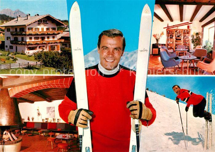 AK / Ansichtskarte Kitzbuehel_Tirol Haus Toni Sailer Halle Bar Kitzbuehel Tirol