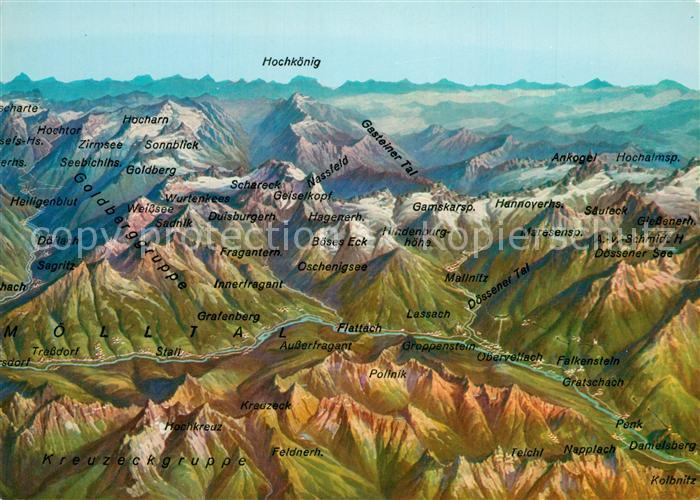 AK / Ansichtskarte Hohentauern Moelltal Panoramakarte Hohentauern