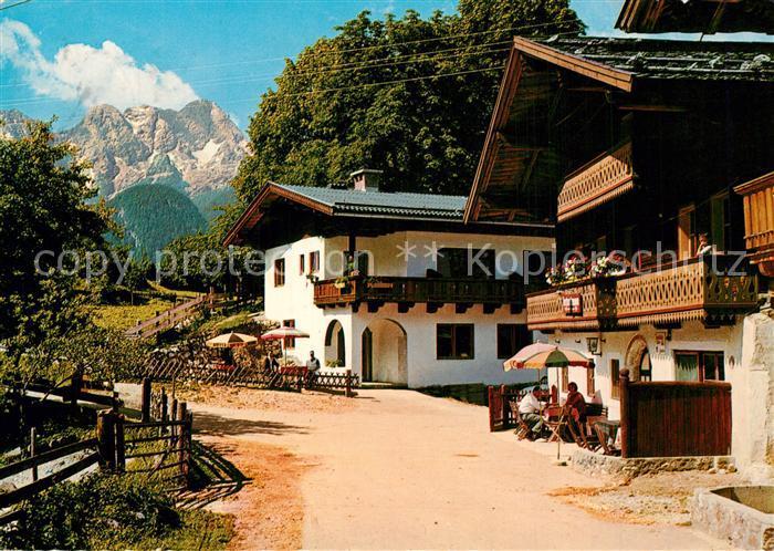 AK / Ansichtskarte Au_Lofer Gasthaus Pension Ennsmann Au_Lofer