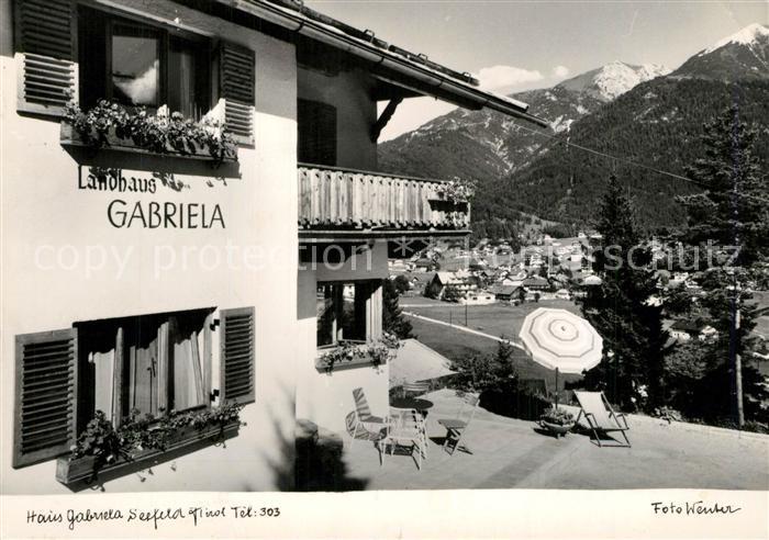 AK / Ansichtskarte Seefeld_Tirol Haus Gabriela Seefeld Tirol