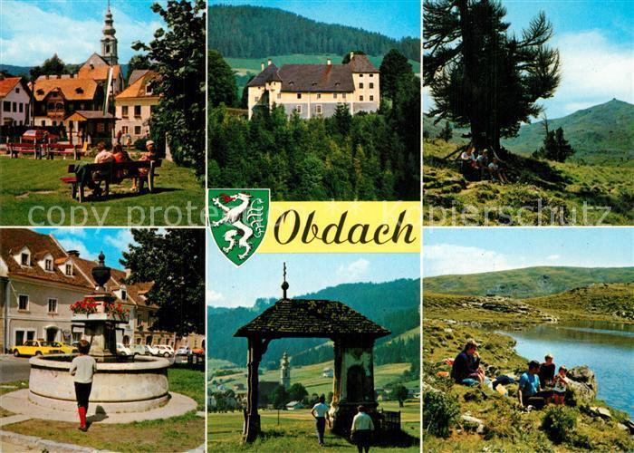 AK / Ansichtskarte Obdach Schloss Admontbuehel Zirbitzkogel Lindersee Obdach
