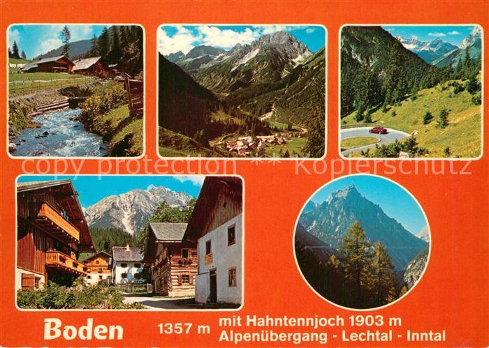 AK / Ansichtskarte Boden_Pfafflar Panorama Hahntennjoch Alpenuebergang Lechtal Inntal Boden_Pfafflar