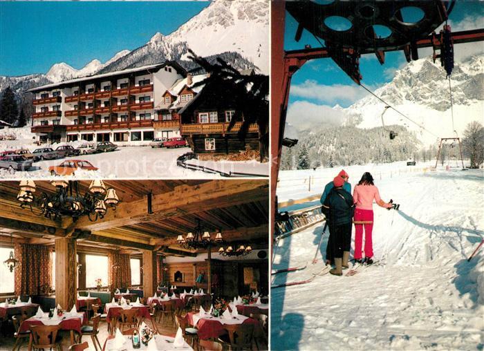 AK / Ansichtskarte Ramsau_Dachstein_Steiermark Gasthof Restaurant Knollhof Winter Ramsau_Dachstein