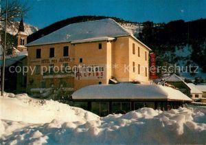AK / Ansichtskarte Saint Julien en Beauchene Hotel Restaurant des Alpins Winter Saint Julien en Beauchene