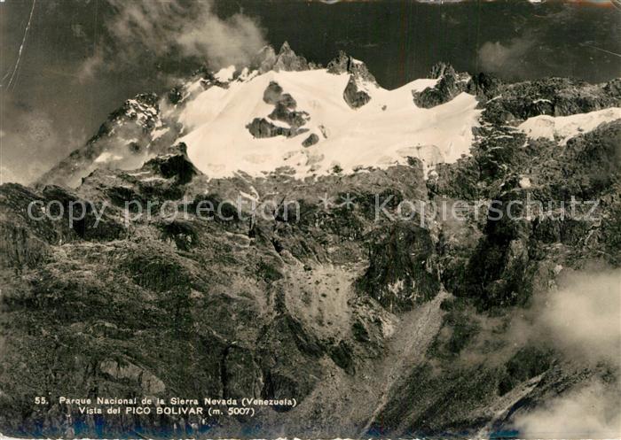 AK / Ansichtskarte Venezuela Parque Nacional de la Sierra Nevada Vista del Pico Bolivar Venezuela