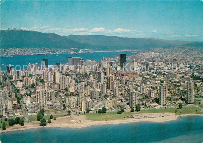 AK / Ansichtskarte Vancouver_British_Columbia Aerial View of the downtown District Vancouver Vancouver_British