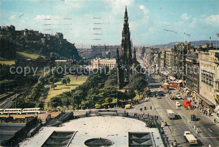 AK / Ansichtskarte Edinburgh Princes Street and the Castle Edinburgh