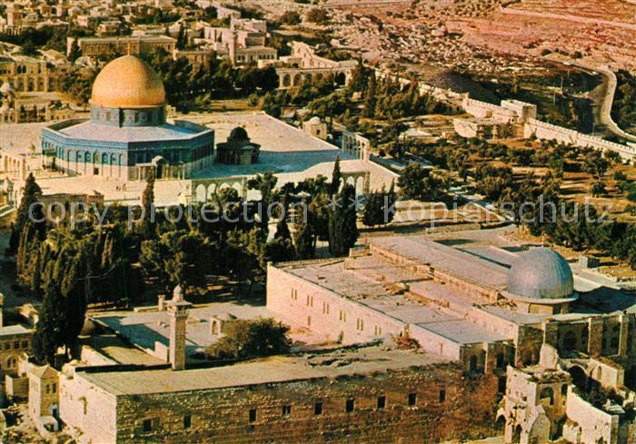AK / Ansichtskarte Jerusalem_Yerushalayim Temple Area from the air Jerusalem_Yerushalayim