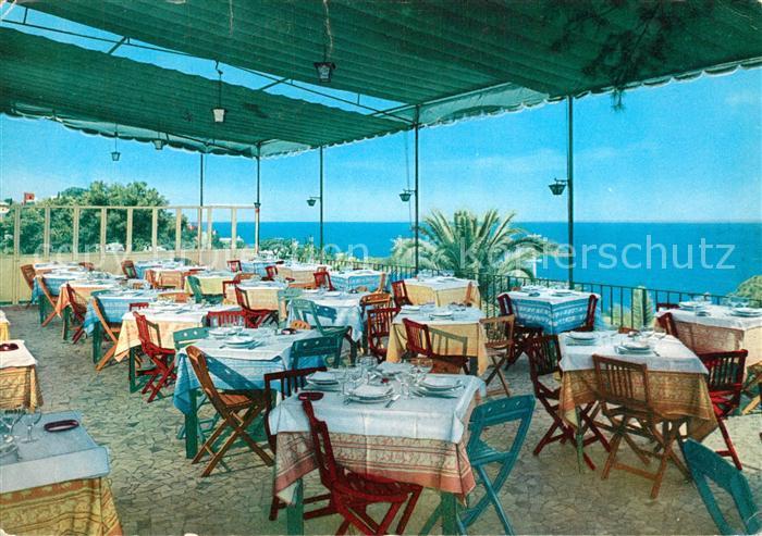 Ak Ansichtskarte Capri Napoli Hotel Excelsior Parco Terrazza Ristorante Capri Napoli