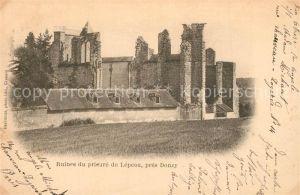 AK / Ansichtskarte Donzy Ruines du prieure de Lepeau Donzy