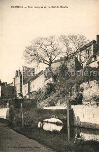 AK / Ansichtskarte Clamecy_Nievre Pont rustique sur le Bief du Moulin Clamecy_Nievre