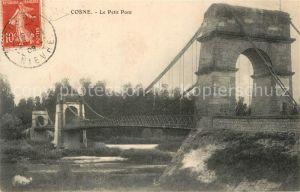 AK / Ansichtskarte Cosne Cours sur Loire Le petit pont Cosne Cours sur Loire