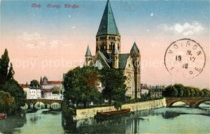 AK / Ansichtskarte Metz_Moselle Temple Protestant Evangelische Kirche Metz_Moselle