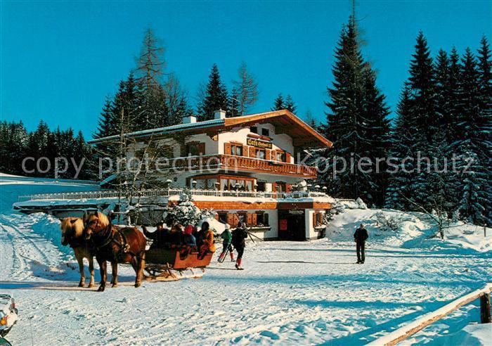 AK / Ansichtskarte Ramsau_Dachstein_Steiermark Cafe Gerhard Winter Ramsau_Dachstein