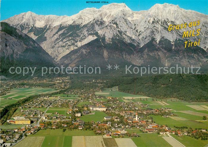AK / Ansichtskarte Mils_Hall Fliegeraufnahme Mils_Hall