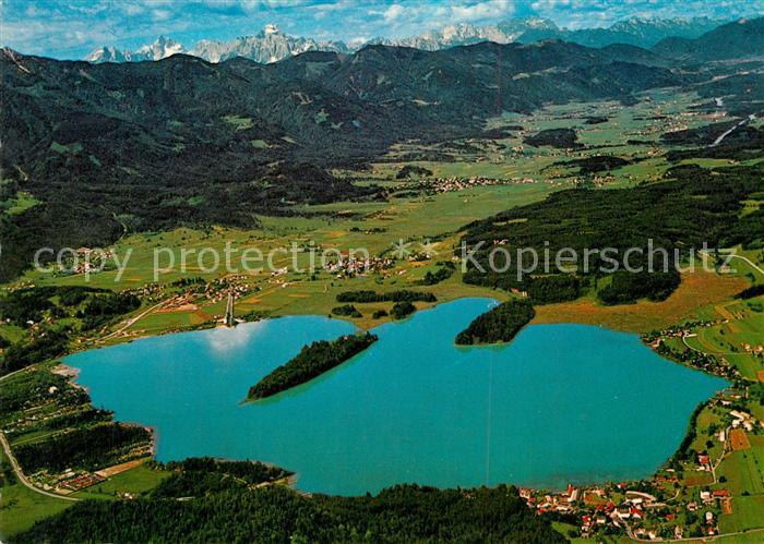 AK / Ansichtskarte Faakersee Fliegeraufnahme Karnische Alpen Faakersee