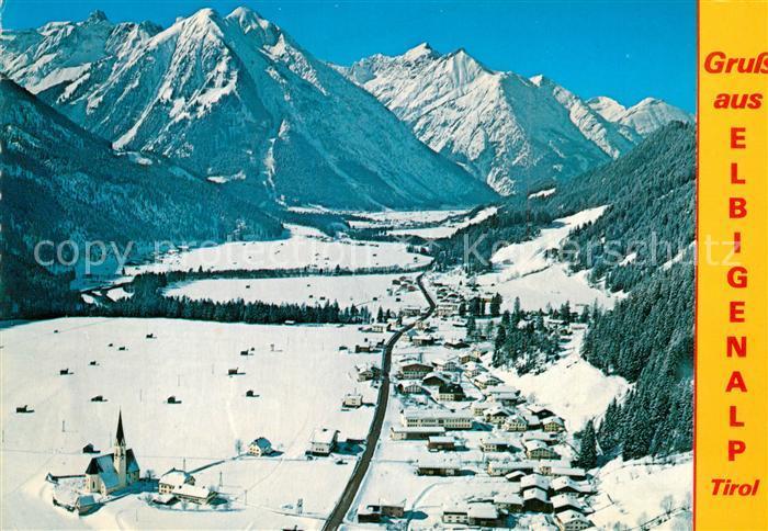 AK / Ansichtskarte Elbigenalp Winterlandschaft Wetterspitze Sonnenkogeln Rotschrofenspitze Elbigenalp