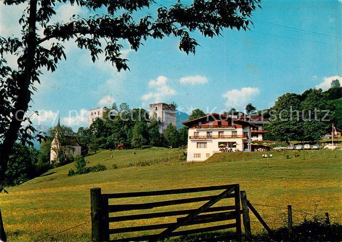 AK / Ansichtskarte Kaprun Hotel an der Burgruine Kaprun