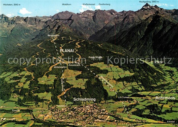 AK / Ansichtskarte Schladming_Obersteiermark Feriengebit Rohrmoos Panoramakarte Schladming_Obersteiermark