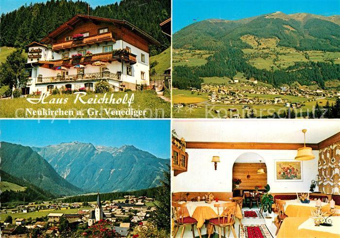 AK / Ansichtskarte Neukirchen_Grossvenediger Haus Reichholf Panorama Neukirchen Grossvenediger