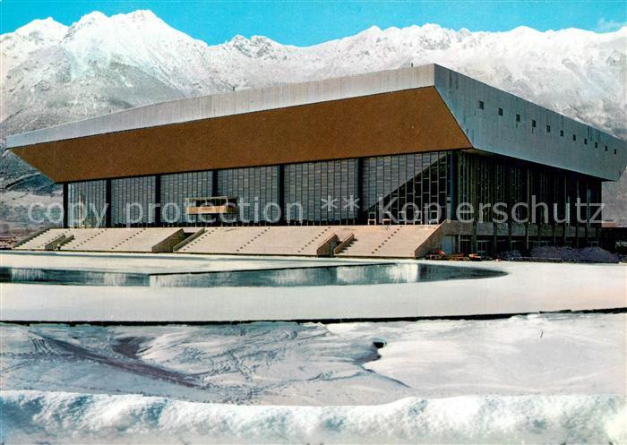 AK / Ansichtskarte Innsbruck Olympia Eisstadion Eisschnelllaufbahn  Winter Innsbruck