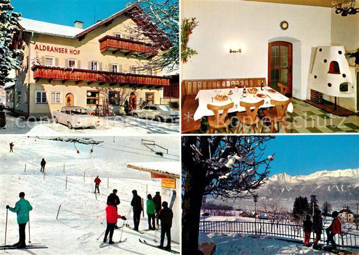 AK / Ansichtskarte Aldrans Gasthof Pension Aldranser Hof Winter Aldrans