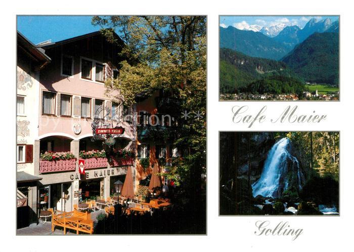 AK / Ansichtskarte Golling_Salzach Konditorei Cafe Pension Maier Golling Salzach