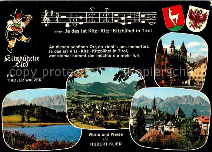 AK / Ansichtskarte Kitzbuehel_Tirol Panorama Kitzbueheler Lied Kitzbuehel Tirol