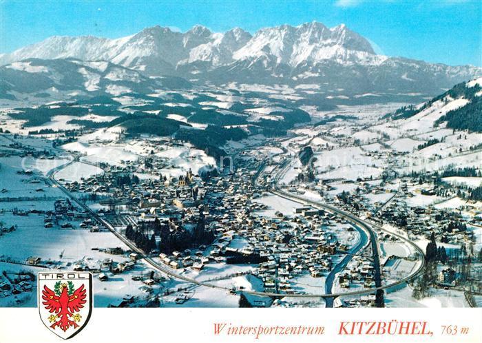 AK / Ansichtskarte Kitzbuehel_Tirol Fliegeraufnahme Winterlandschaft Kitzbuehel Tirol