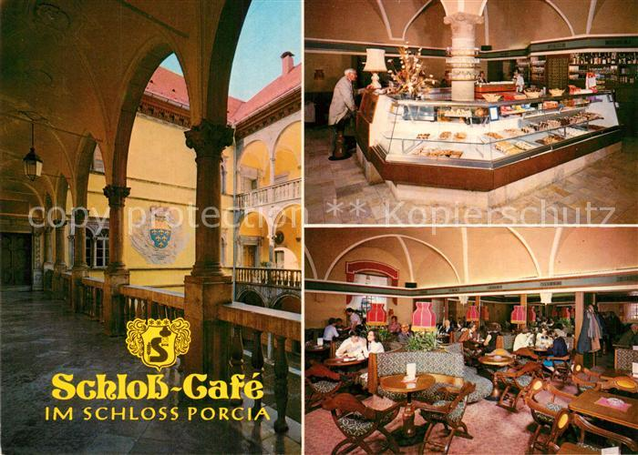 AK / Ansichtskarte Spittal_Drau Schloss Cafe Schloss Porcia Spittal Drau