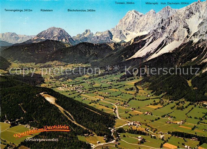 AK / Ansichtskarte Ramsau_Dachstein_Steiermark Fliegeraufnahme Ramsau_Dachstein