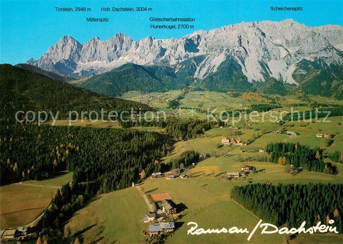 AK / Ansichtskarte Ramsau_Dachstein_Steiermark Fliegeraufnahme Bergkette Ramsau_Dachstein