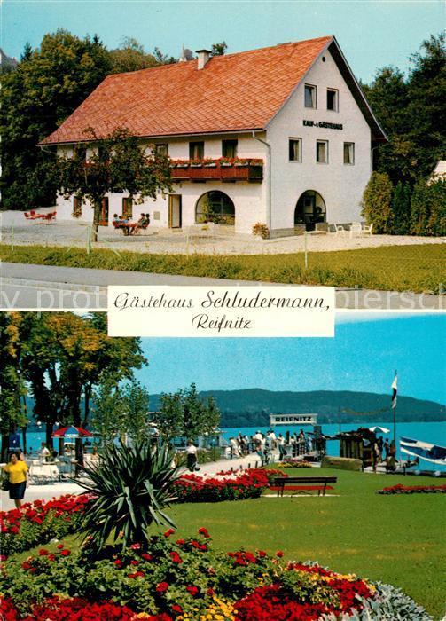 AK / Ansichtskarte Reifnitz_Woerthersee Gaestehaus Schludermann Reifnitz Woerthersee