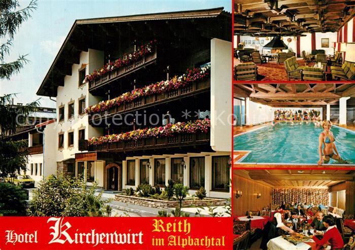 AK / Ansichtskarte Reith_Alpbachtal Hotel Pension Restaurant Cafe Kirchenwirt Reith Alpbachtal