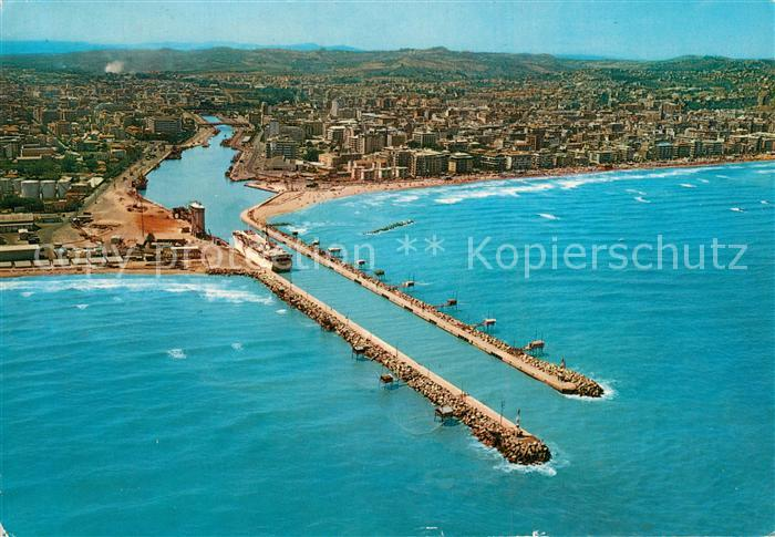 AK / Ansichtskarte Pescara Fliegeraufnahme Portocanale Pescara