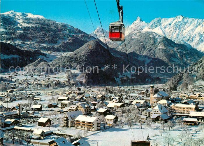 AK / Ansichtskarte Schruns_Tschagguns Hochjochbahn Golm Zimba Winter