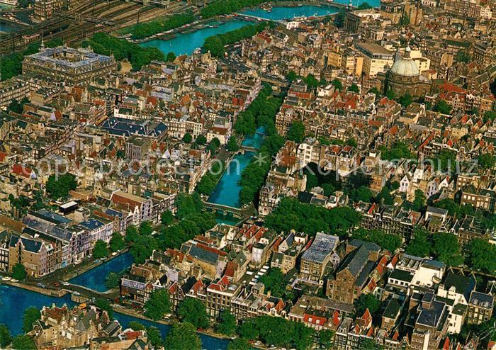 AK / Ansichtskarte Amsterdam_Niederlande Fliegeraufnahme Amsterdam_Niederlande