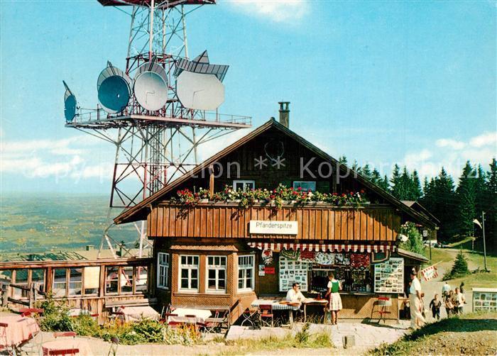 AK / Ansichtskarte Bregenz_Bodensee Gasthaus Pfaenderspitze Fernsehturm Bregenz Bodensee